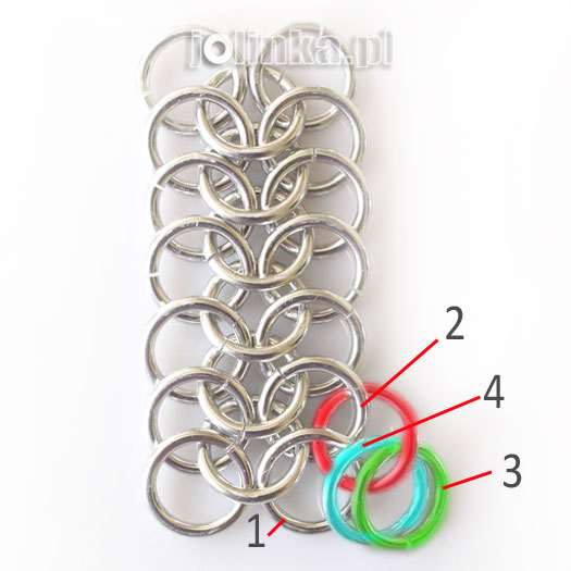 Bransoletka Chainmaille Euro 4in1